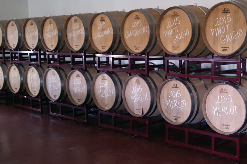 Jessie Creek Winery Barrel Room