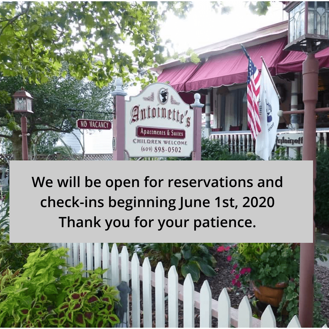 Open for reservations june 1, 2020