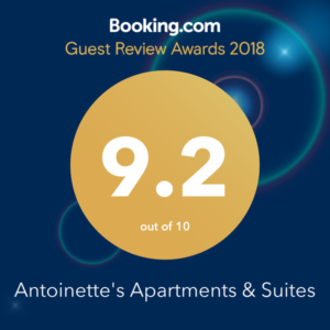 Booking.com Award 9.2/10 rating for 2018
