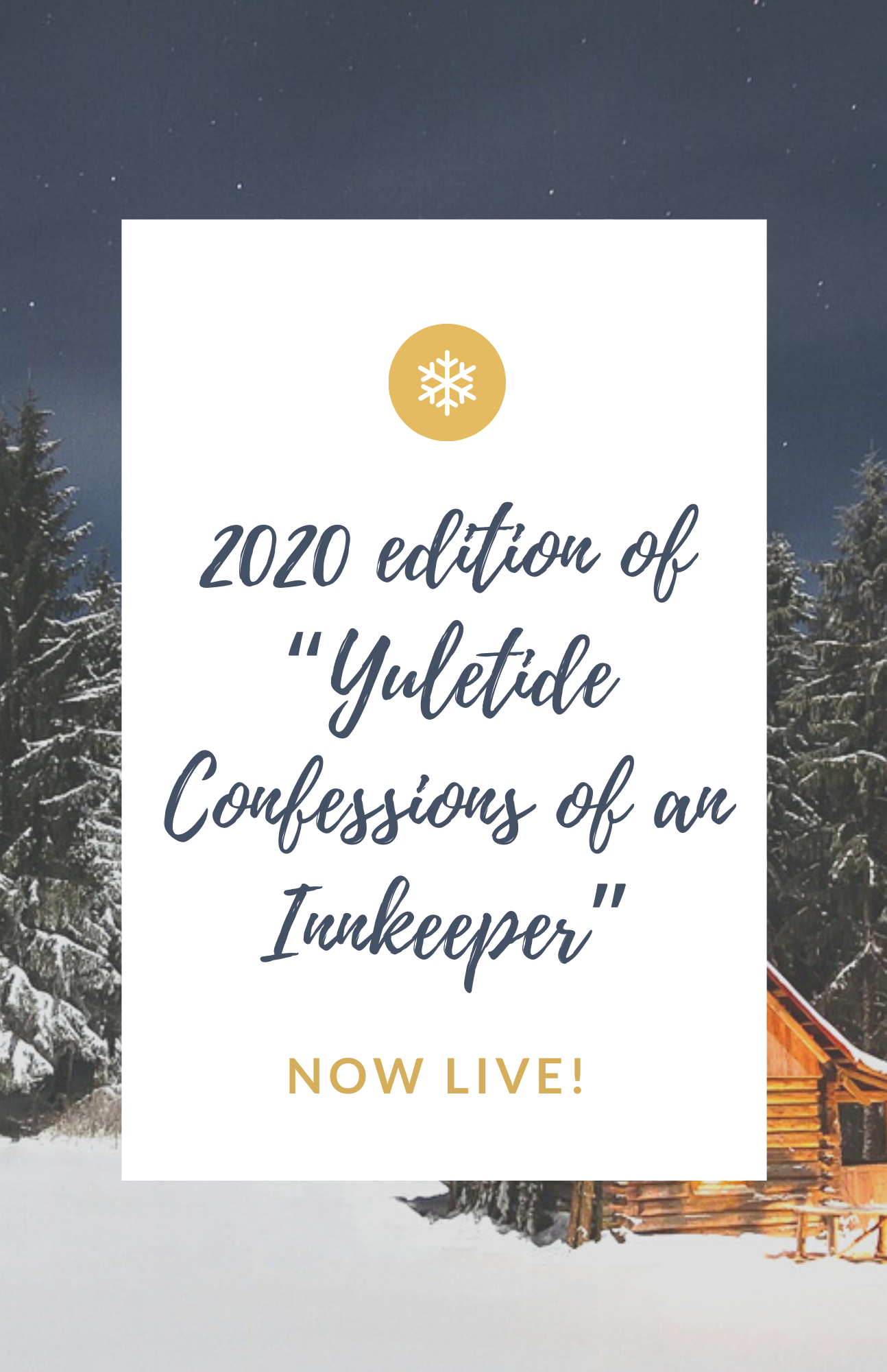 image that says 2020 edition of yuletide confessions of an innkeeper now available